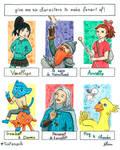 Six Fanarts Challenge - 2020 by Lissou-drawing