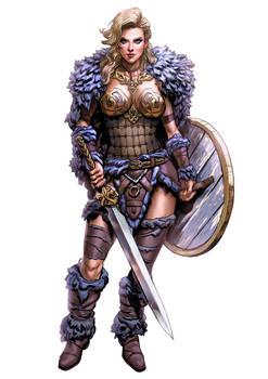 Commission - Female Viking