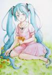 Watercolour Miku