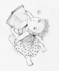 upside-down book-reading by Shia-chan