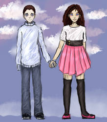 Levi and Laura [Commission] by TiramiQ