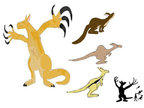 Kangaroos of the Neozoic