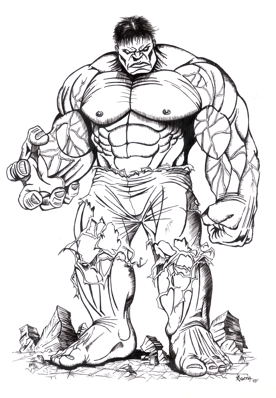 Hulk solo tinta. ~ Pandora Box.