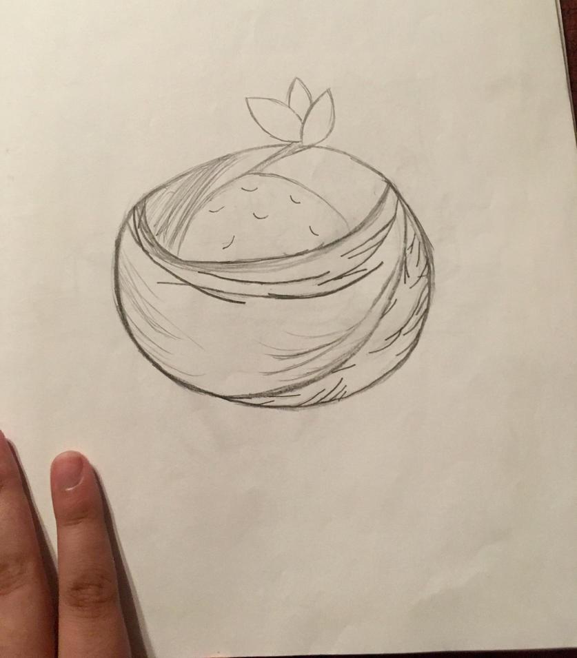 Orange In A Bowl by KittenFace101