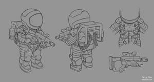 Astronaut Concept Line