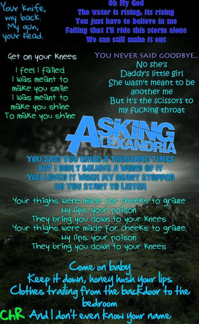 Asking Alexandria by 1ronma1denAsking Alexandria Lyrics Wallpaper
