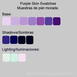 Purple skin Swatches - Muestras piel morada