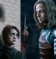 Arya Stark and Jaqen H'ghar by MarinaSchiffer