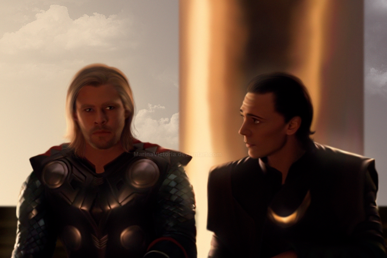 Thor and Loki at sunset. by MarinaSchiffer