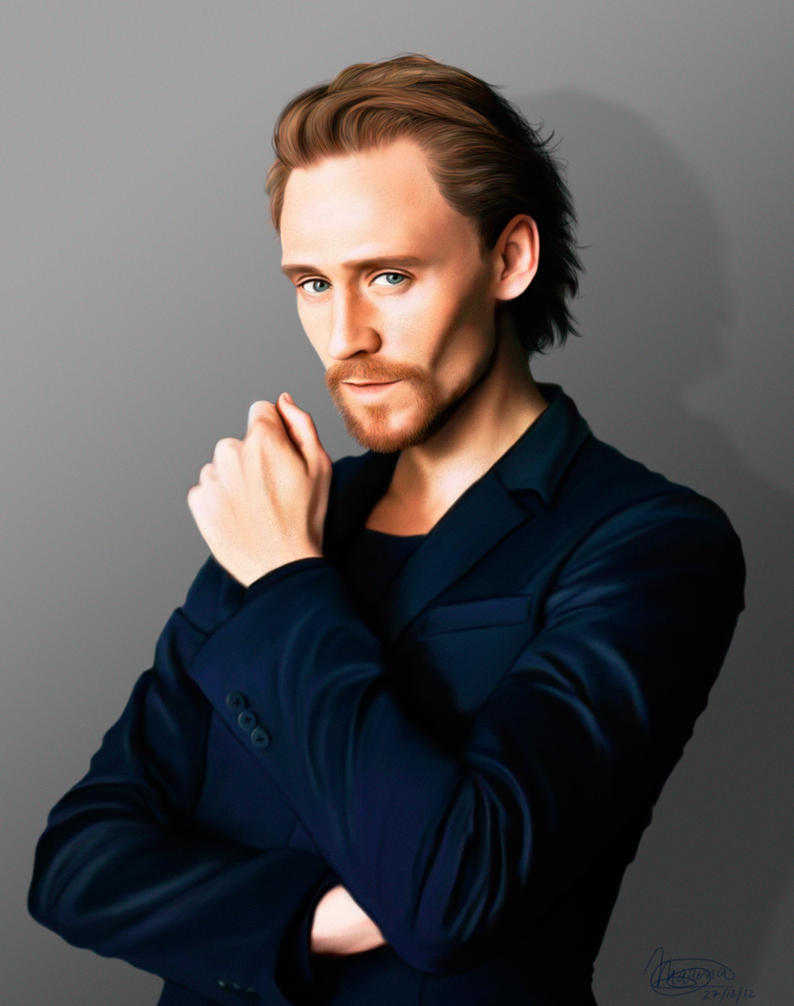 Tom Hiddleston Blue by MarinaSchiffer