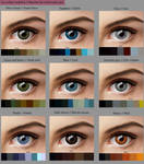 Eye colour swatches