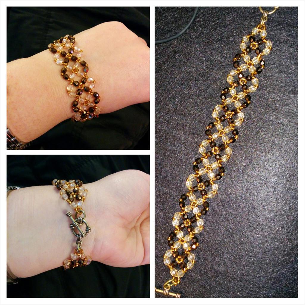 Brown beaded bracelet by MarinaSchiffer