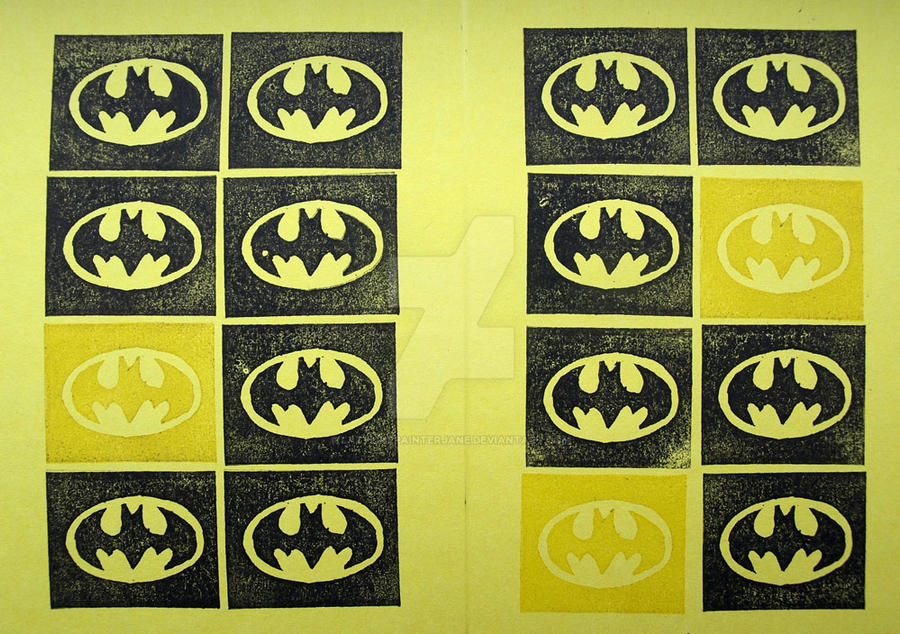 Batman Print by lazylinepainterjane