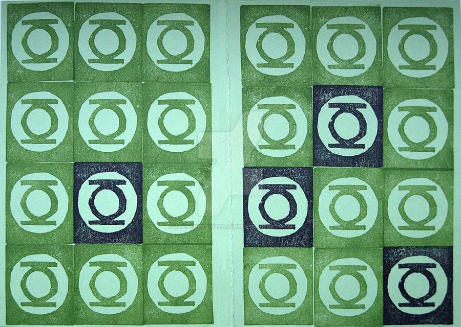 Green Lantern Print by lazylinepainterjane