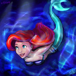 The little mermaid by DreamyNatalie