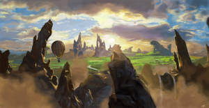 Landscape from Oz the Great and Powerful