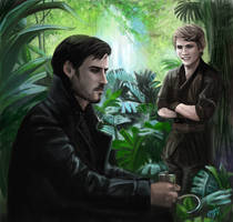 Peter Pan and Captain Hook - Once Upon A Time by DreamyNatalie