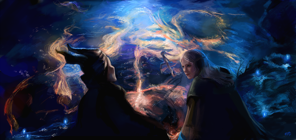 Maleficent and Aurora by DreamyNatalie