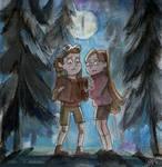 Dipper and Mabel - Gravity Falls