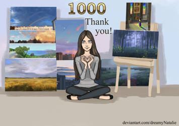 1000 watchers - thank you! by DreamyNatalie