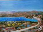 Cape Sounion - oil painting