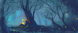 Reader and fireflies