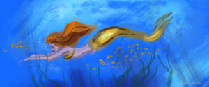 Golden mermaid