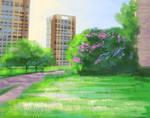 Shining grass