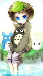Tonari no Totoro by zomgO3O