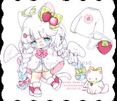 Open ! Strawberry Itten Girl + Pet !