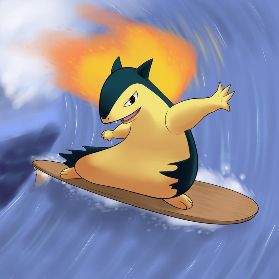 Typhlosion Surfing By TheBoogie On DeviantArt