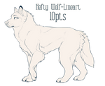 {P2U} Hefty Wolf Lineart
