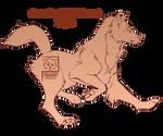 {P2U-10pts} Prancing Wolf Lineart