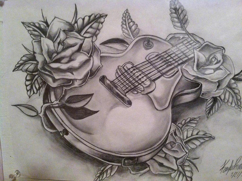 Guitar n' Roses by xXXxNightShadexXXx