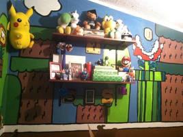 Mario Level Mural by xXXxNightShadexXXx