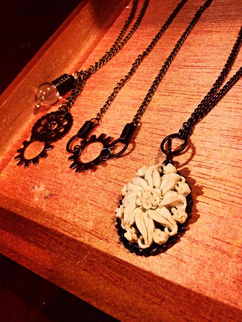 Necklaces galore! by xXXxNightShadexXXx