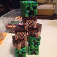 3D Minecraft cubes :D by xXXxNightShadexXXx