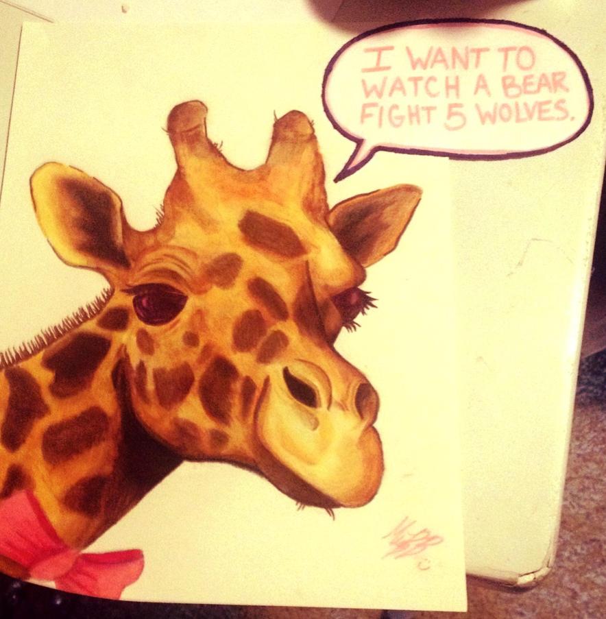 Giraffe by xXXxNightShadexXXx