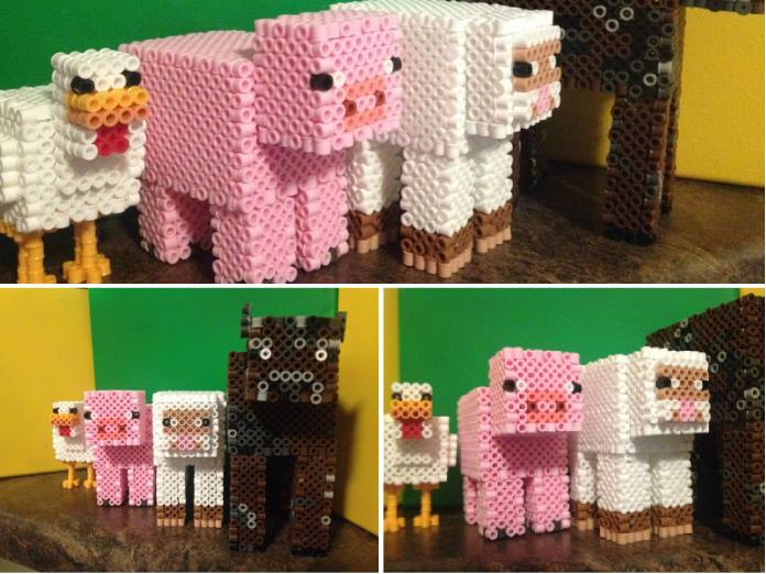 Minecraft Animal Line-Up by xXXxNightShadexXXx