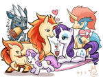 Rarity and Sweetiebelle with Ponies in pokemon