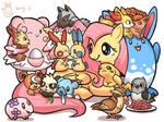 Fluttershy and cute pokemon