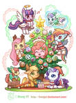 Merry Christmas with My little pony!