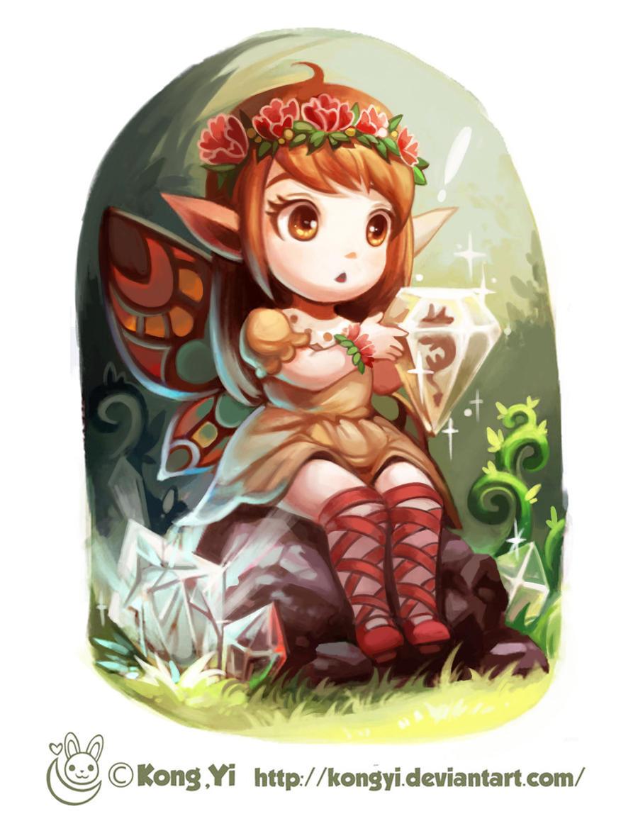 Practice-Little elfin and diamond by kongyi