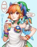 redraw maid rainbow dash