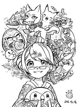 Doodle: Have a happy time in Japan