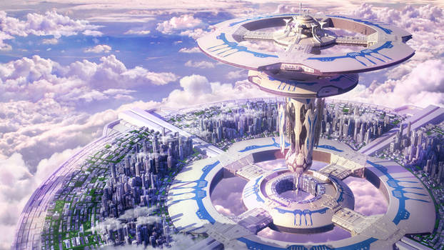 Sci-Fi city of Tuats. SolarWind