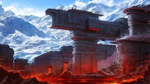 Ice and Lava city of Dwerg. SolarWind