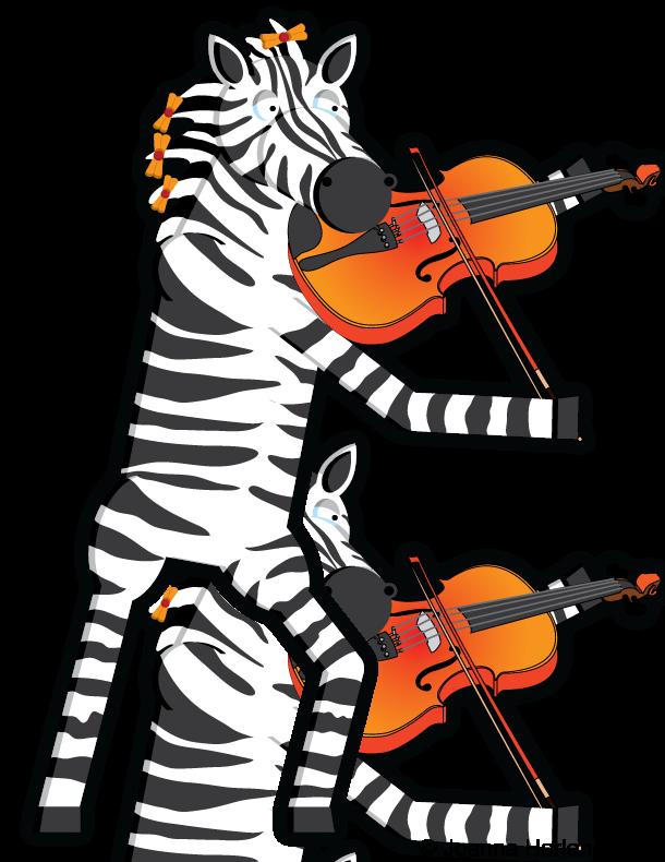 Zebra Violin 'C.V.B.' by HarlandGirl