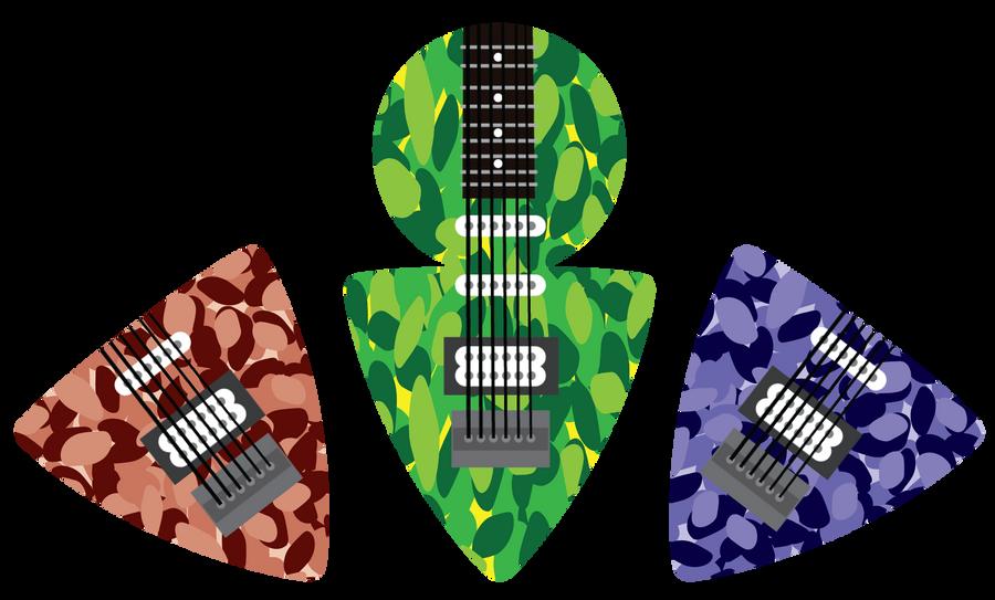 guitar pick design by harlandgirl. Black Bedroom Furniture Sets. Home Design Ideas