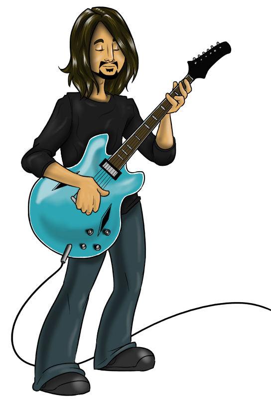 Dave Grohl (Line Art By Teutron) by HarlandGirl